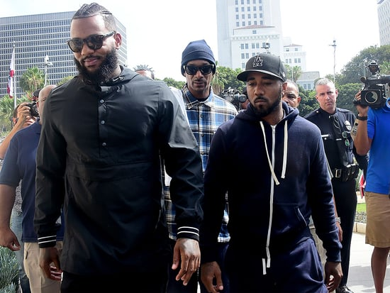 Snoop Dogg and the Game Meet with L.A. Cops After Leading March for 'Men with Heart'