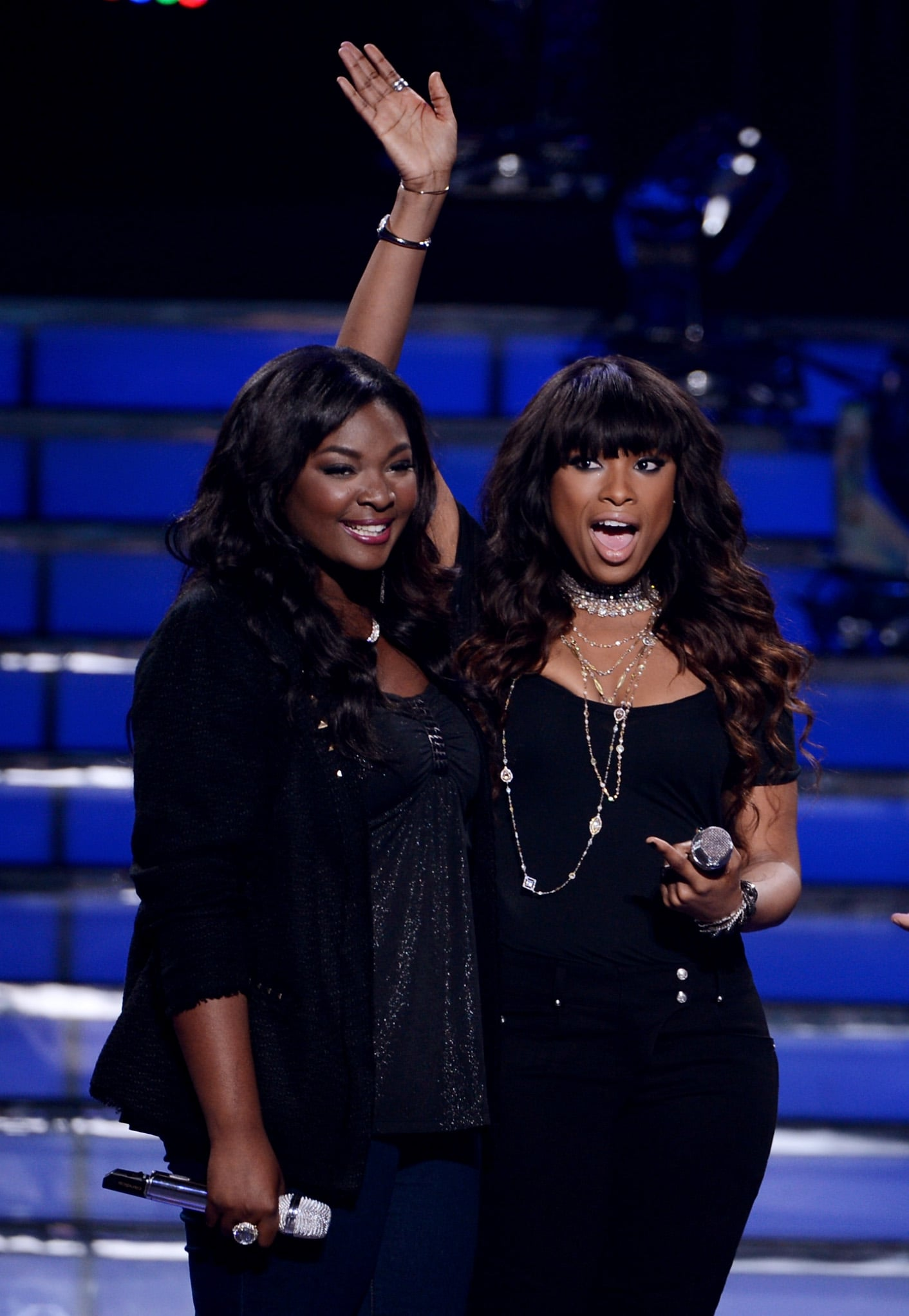Candice Glover performed with Jennifer Hudson.