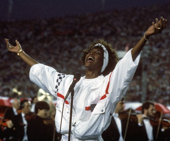 Whitney Houston sang the national anthem in 1991.