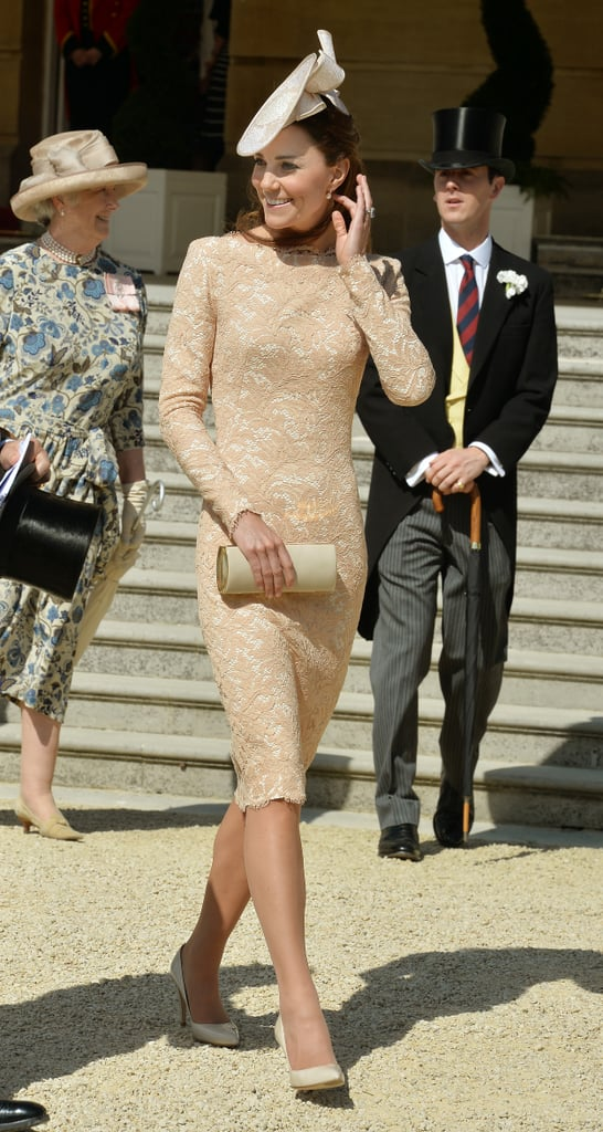 Kate Middleton wore a great hat at Prince Philip's 93rd birthday party at Buckingham Palace on Tuesday.