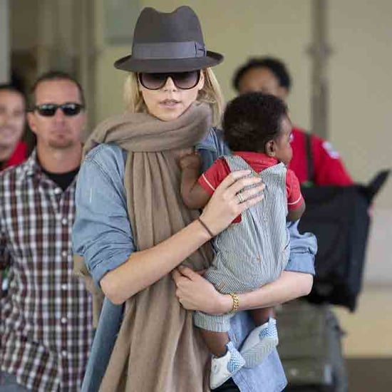 Charlize Theron Carries Baby Jackson Through LAX Pictures