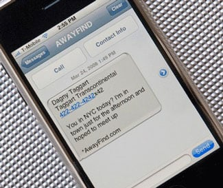 AwayFind Sends Urgent Messages to Your Phone Via Text