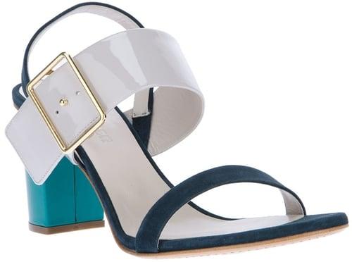 Jil Sander contrast block heel sandal
