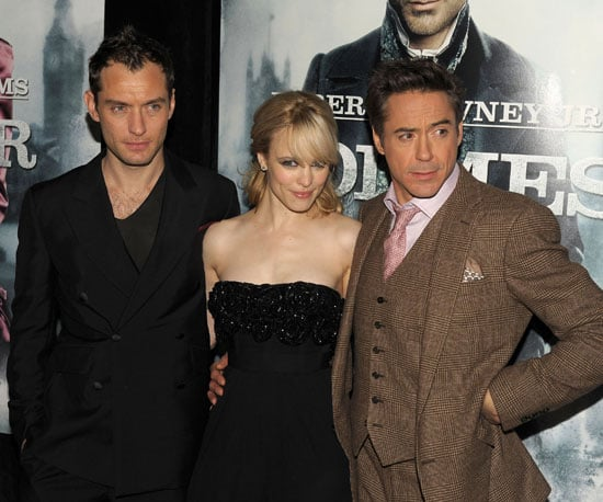 Photo Slide of Jude Law, Rachel McAdams, and Robert Downey Jr at the NYC Premiere of Sherlock Holmes