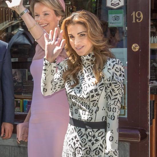 Queen Rania's Red Louis Vuitton Bag