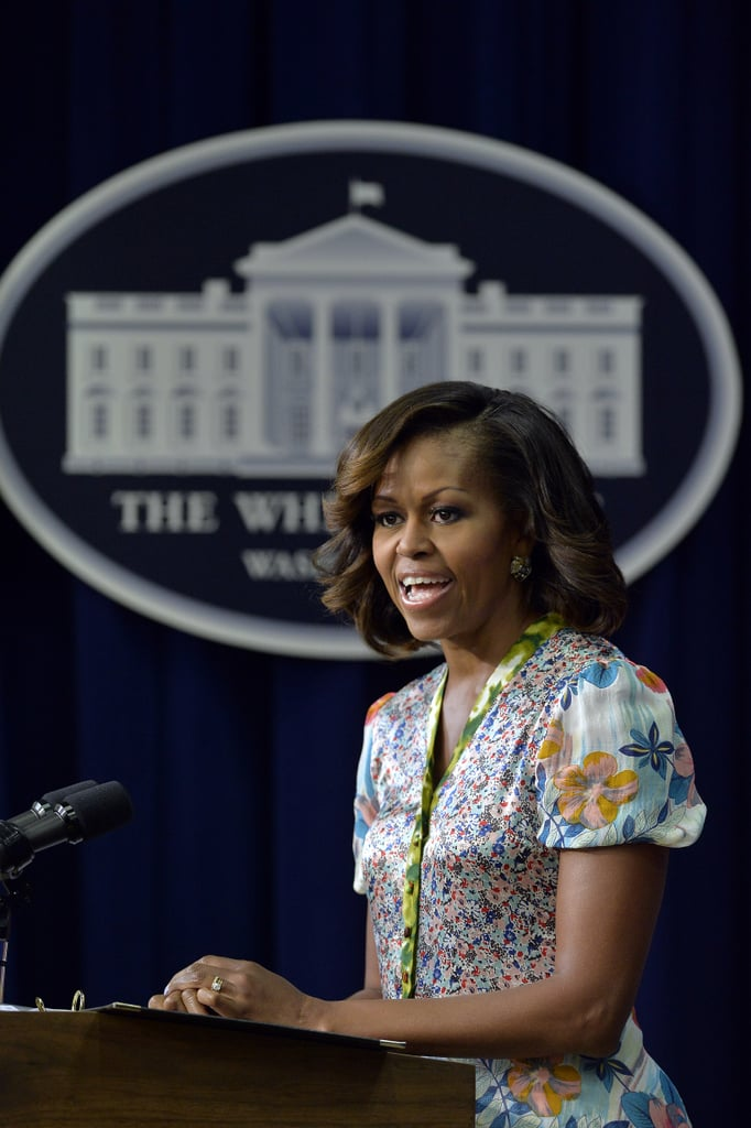 Michelle Obama spoke to honor the 50th anniversary of the March on Washington and Martin Luther King Jr.'s famous speech.