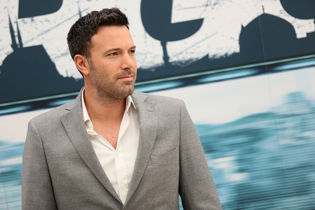 Ben Affleck posed for photos in Rome.