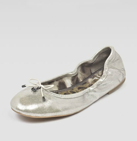 Foldable flats are a lifesaver. They're so compact that they'll hardly impact any of your valuable space.  Sam Edelman Felicia Metallic Flat ($90)