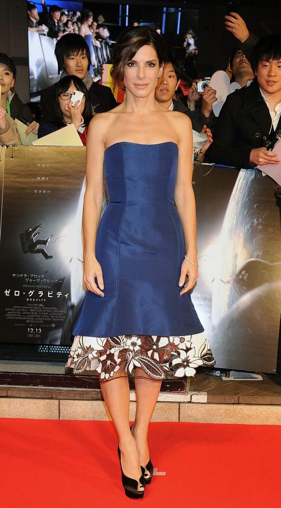 Sandra Bullock in Carolina Herrera at the Tokyo Premiere of Gravity