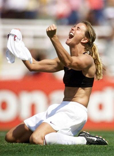 Photo of Brandi Chastain in Sports Bra