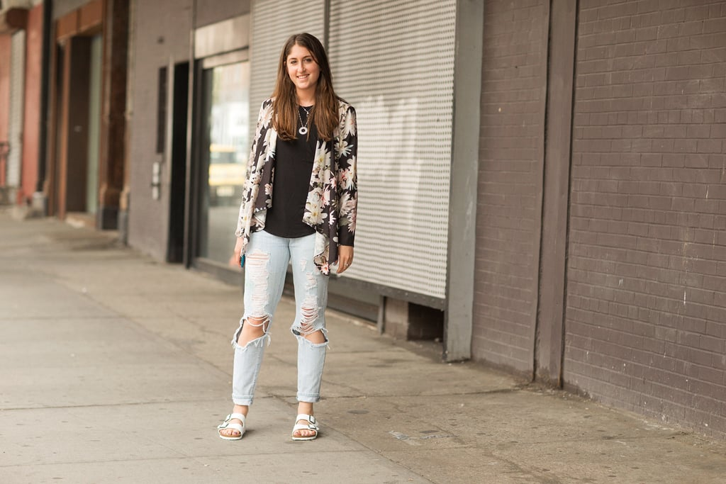 Transition your floral prints for Summer by mixing them with casual-cool separates.