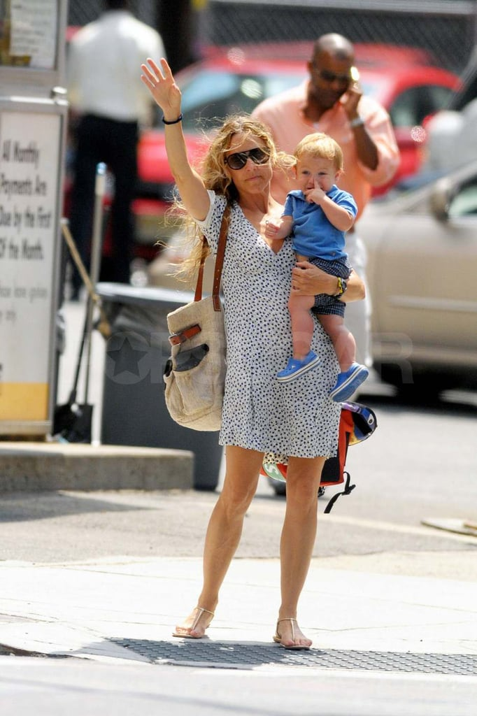 Sheryl Crow with Levi in NYC.
