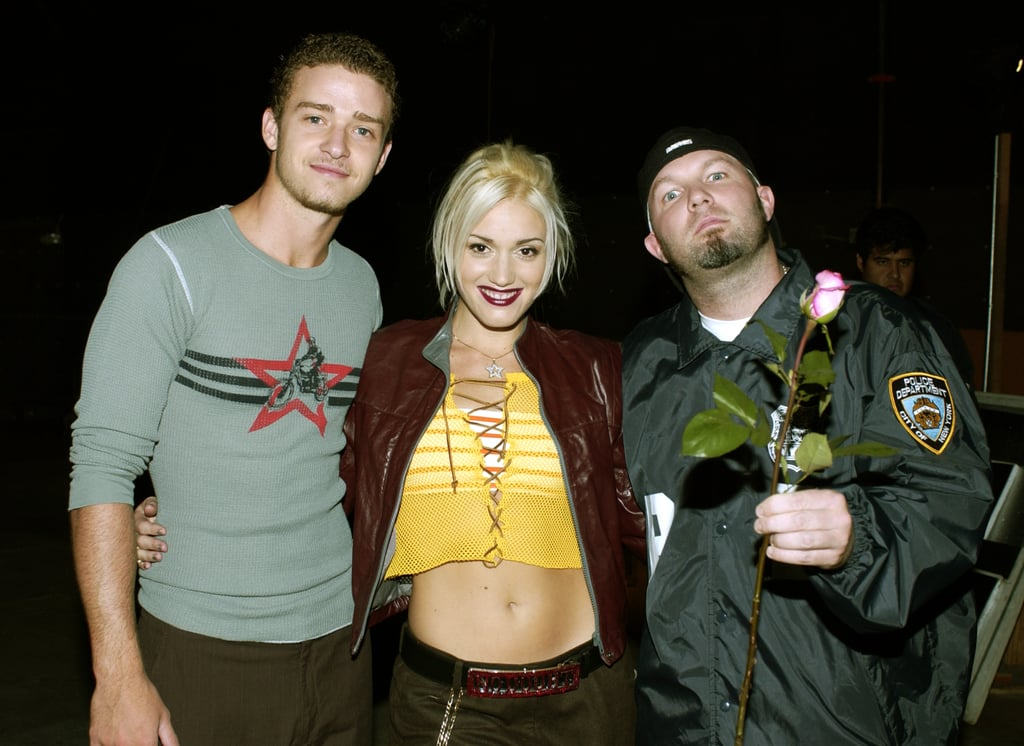 "Justin joined up with Gwen Stefani (and Fred Durst) in October 2001 while shooting a video in LA for their song ""What's Going On,"" which benefited AIDS charities worldwide."