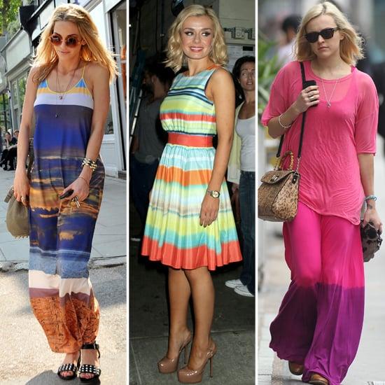 Sarah Harding, Katherine Jenkins, Fearne Cotton Striped Dresses