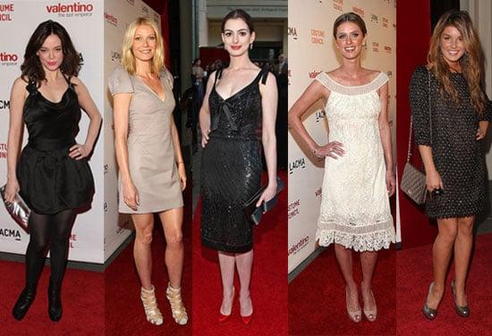 Celebrities Wear Valentino Dresses at the LA Movie Premiere
