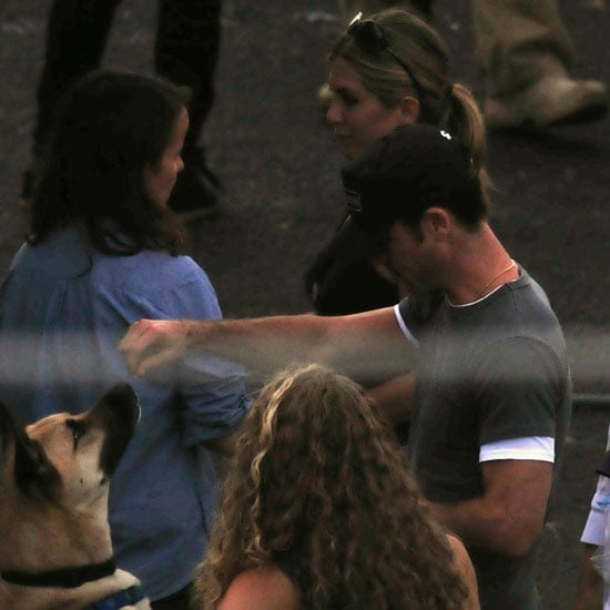 Jennifer Aniston and Justin Theroux at We're the Millers Set