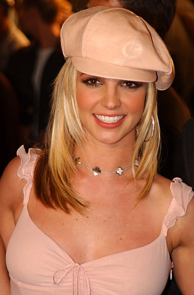 And Britney wore a leather hat.