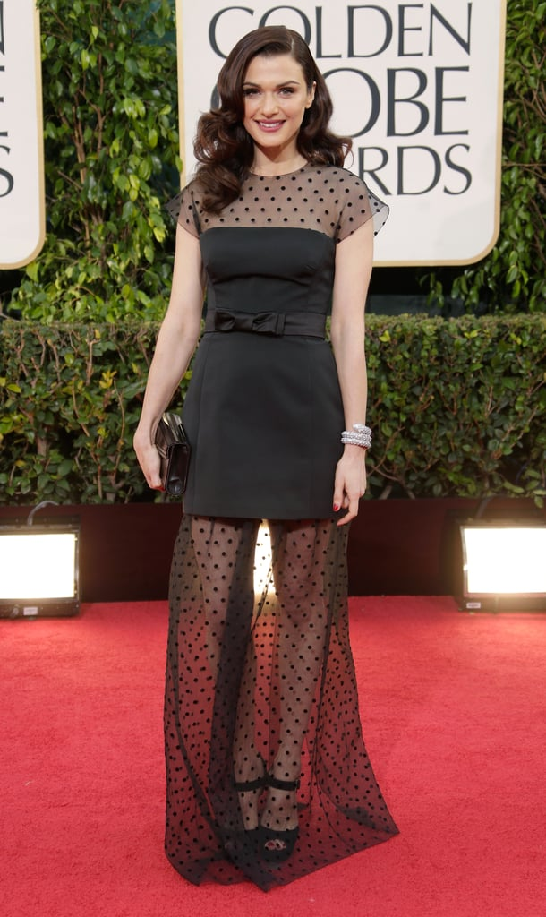 Rachel Weisz gets ready for A-list events, like the Golden Globes, with a little help (and guidance) from Kate.