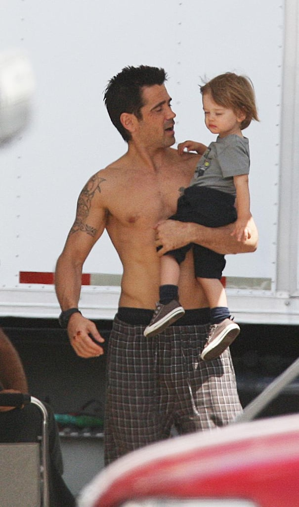 In July 2011, Colin Farrell's son Henry visited him on the set of Total Recall.