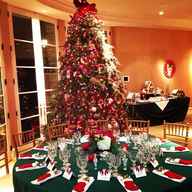 In 2012, Nicky Hilton showed off her family's Christmas dinner decorations.