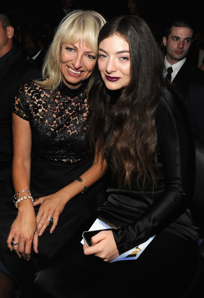 Lorde had her mom by her side when she took home two Grammys during the award ceremony.