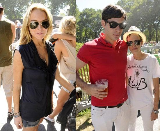 Photos of Lindsay Lohan, Samantha Ronson, Mark Ronson at Lollapalooza