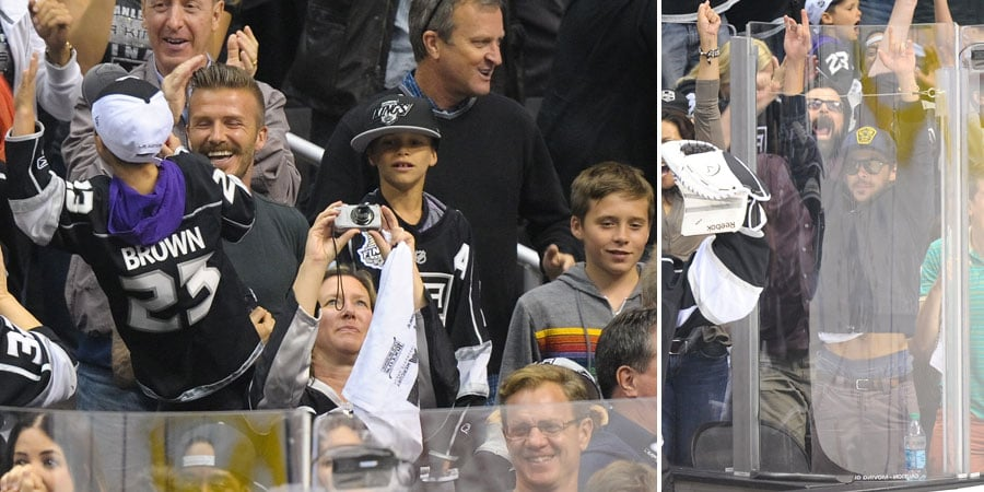Beckham Boys Celebrate the LA Kings' Stanley Cup Win With Other Famous Fans