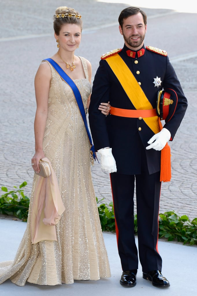 HRH Princess Stephanie and Prince Guillaume of Luxembourg attended the royal wedding.