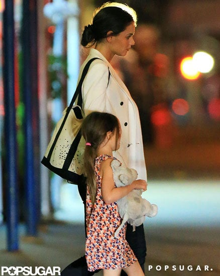 Katie Holmes and Suri Cruise went out for a late dinner together in NYC.