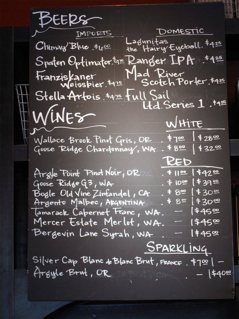 Fancy a Mercer Estate Merlot to go with your morning bun? That can be arranged at Roy Street, which serves a number of regional wine and beer selections.