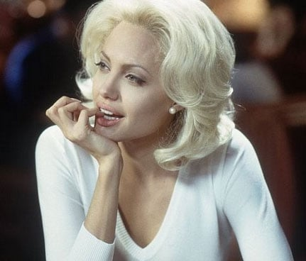 Angelina Jolie modelled platinum locks for her role in 2002's Life or Something Like It.  Photo courtesy of Regency Entertainment