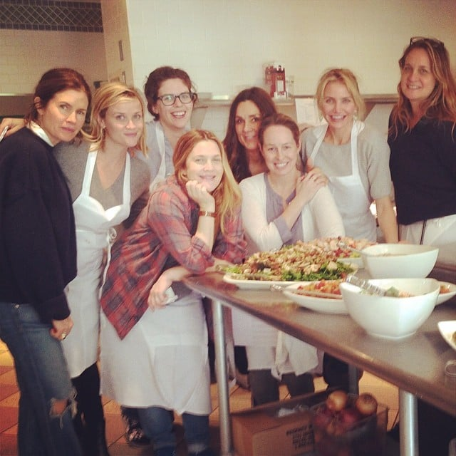 Cameron shared a photo from the kitchen at CIA. Source: Instagram user camerondiaz