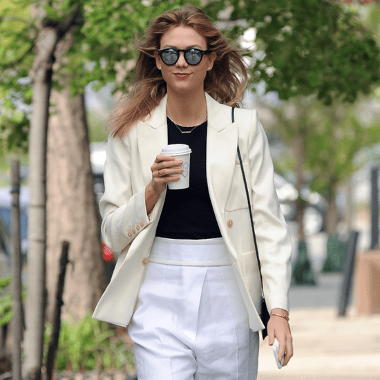 Karlie Kloss Cream and White Outfit April 2016