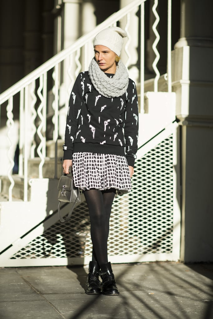 Getting playful with your Winter dress code is as easy as adding prints.  Source: Le 21ème | Adam Katz Sinding