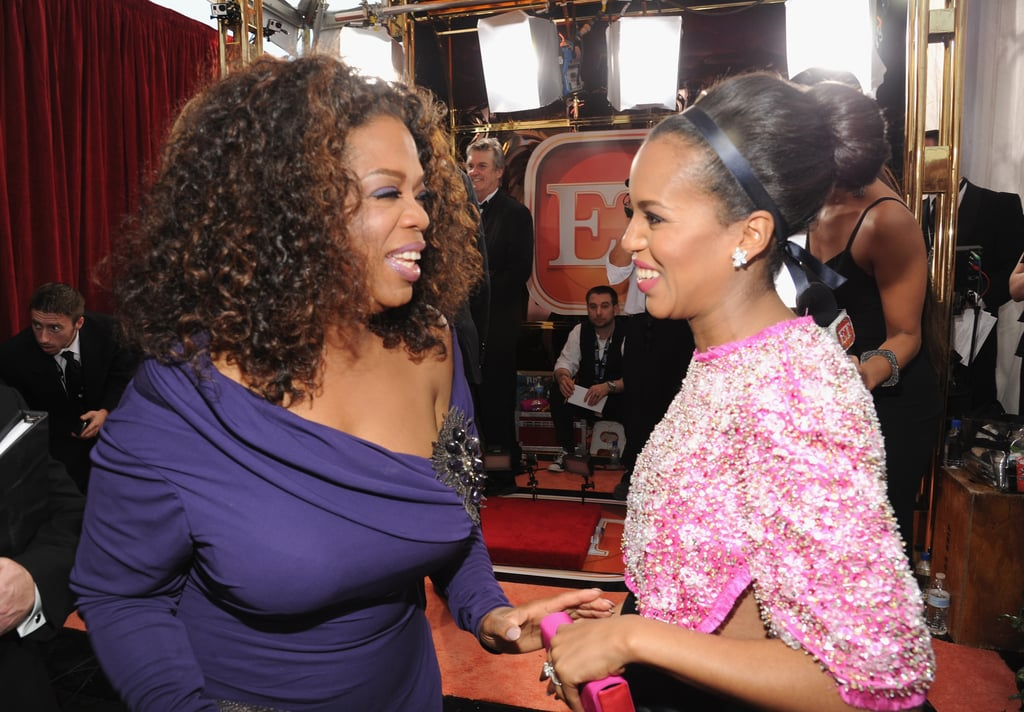 Oprah Winfrey and Kerry Washington were too cute while chatting on the SAGs carpet.