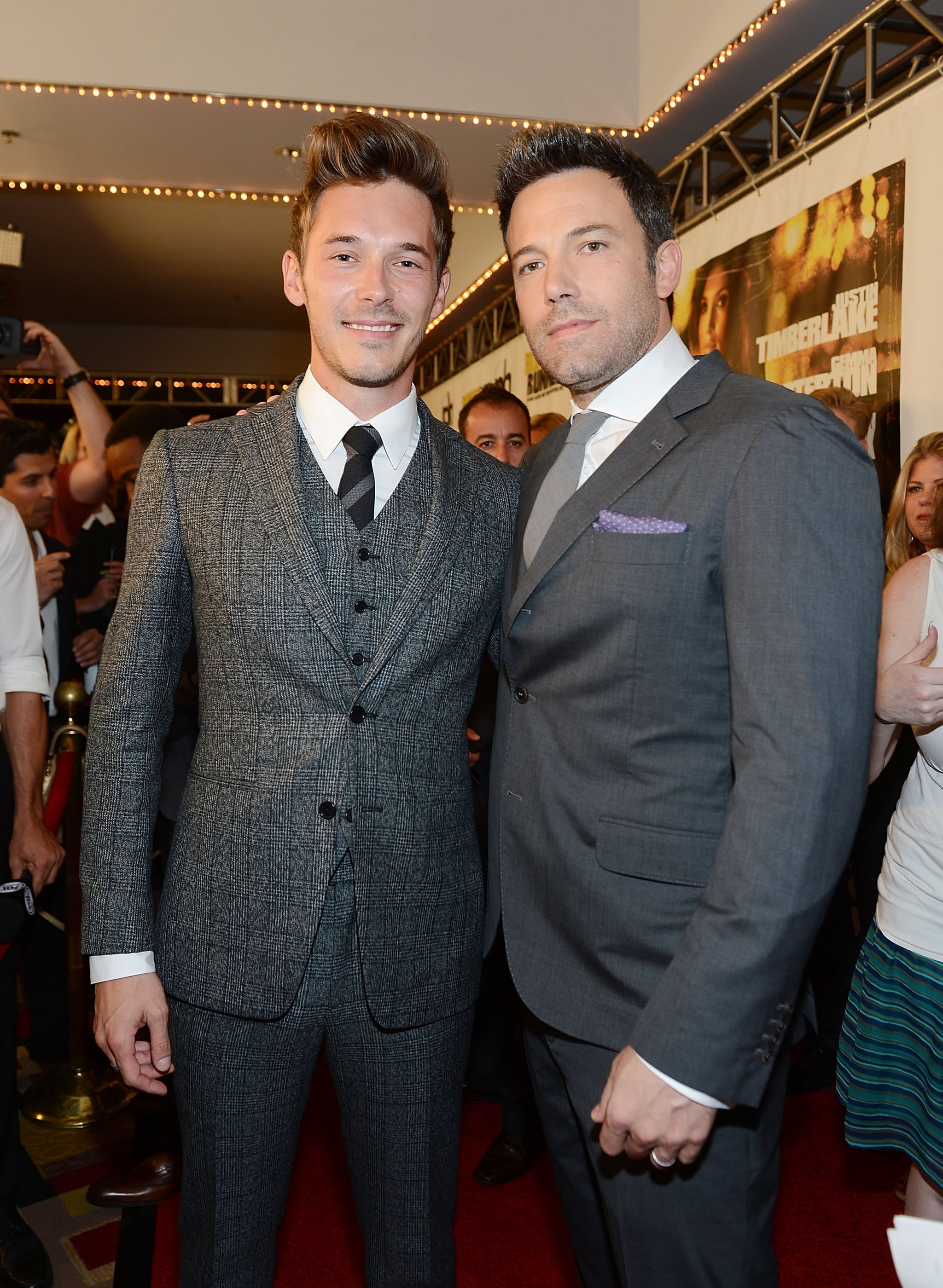 Ben Affleck posed for photos with Sam Palladio.