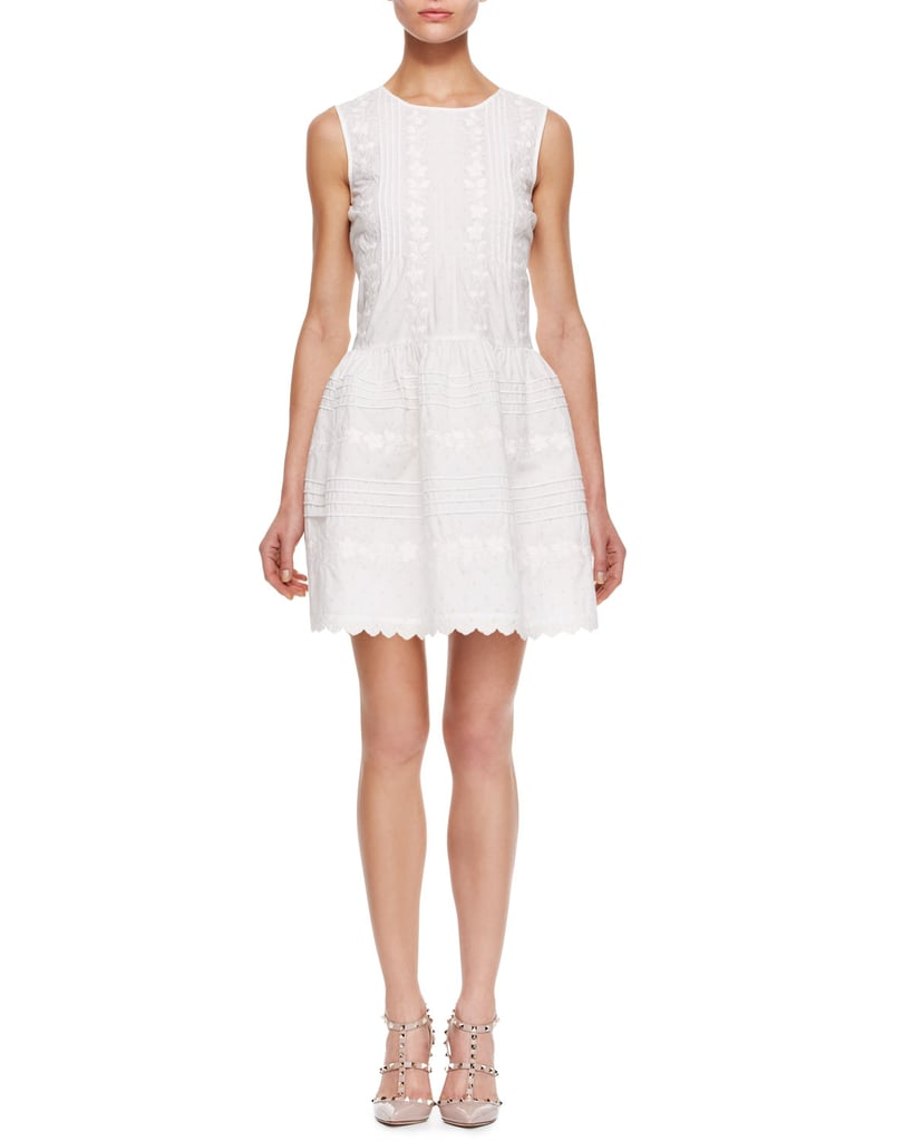 Red Valentino Sleeveless White Dress