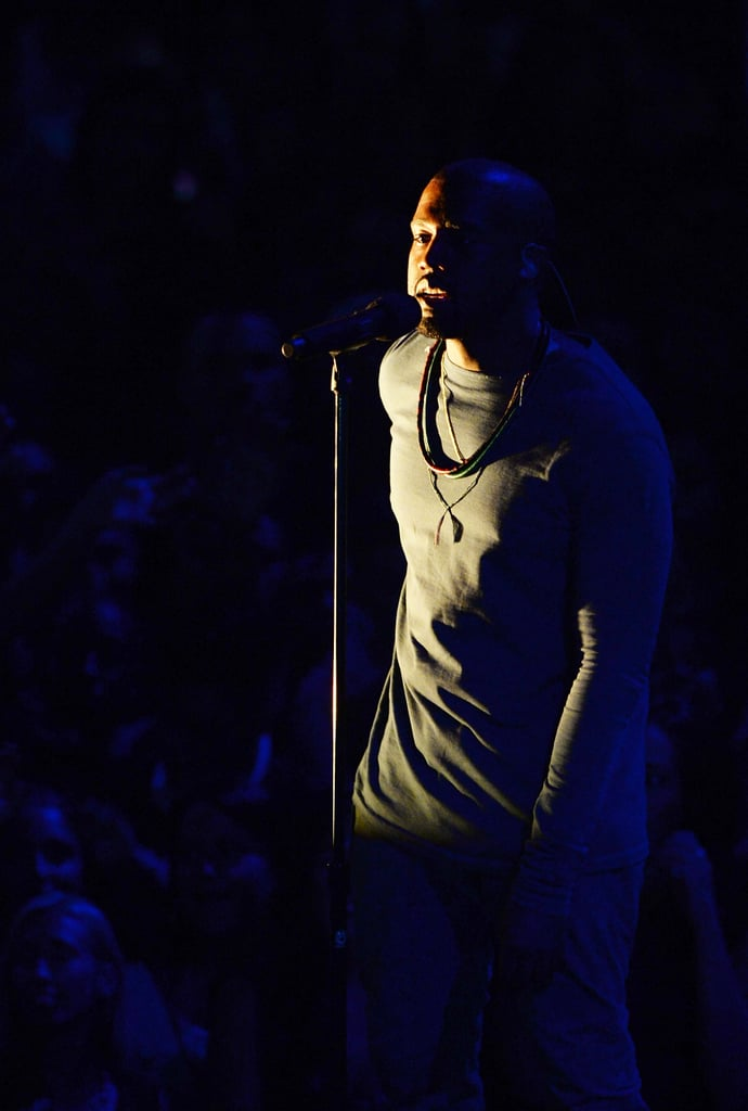 Kanye West performed at the VMAs.