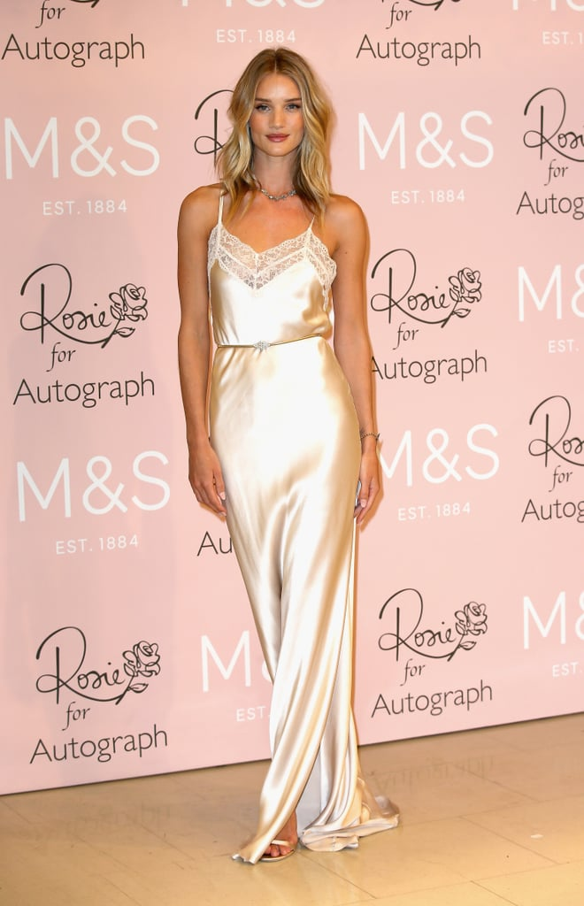 Rosie Huntington Whiteley Wore Her Lingerie Out Of The House Popsugar Fashion Uk