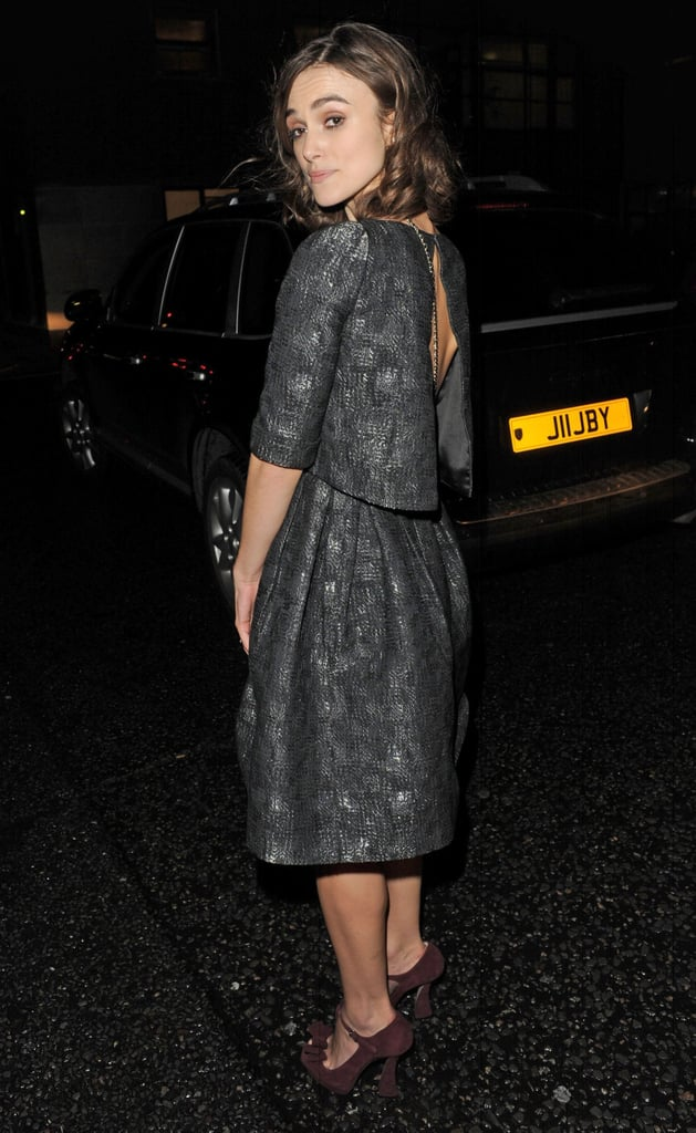 Keira Knightley showed off the back of her dress.