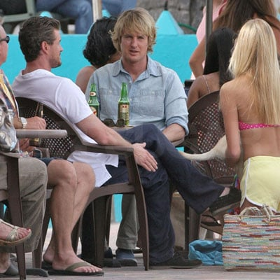 Eric Dane and Owen Wilson on the Set of Marley and Me