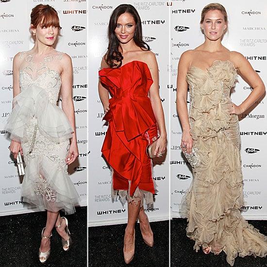 Bar Refaeli, Michelle Monaghan, and Georgina Chapman at Whitney Gala