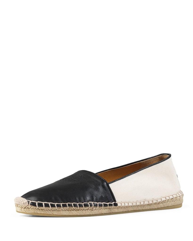 Gucci Leather Espadrille Flat