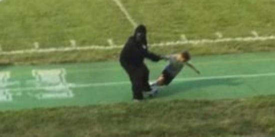 Harambe-Costumed Teen Re-Enacts Tragedy At High School Football Game