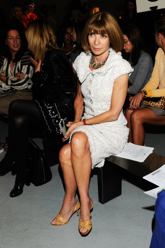 Anna Wintour took her seat in the front row at the Rodarte show.