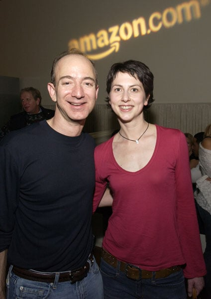 Jeff Bezos, CEO of Amazon, and McKenzie Bezos Cuddle Up