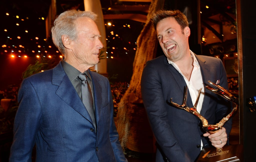 Ben Affleck and Clint Eastwood laughed together while heading backstage.