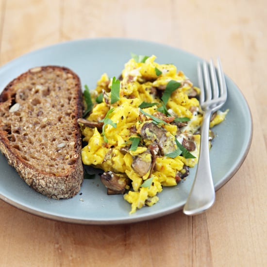 Scrambled Eggs With Mushrooms and Goat Cheese