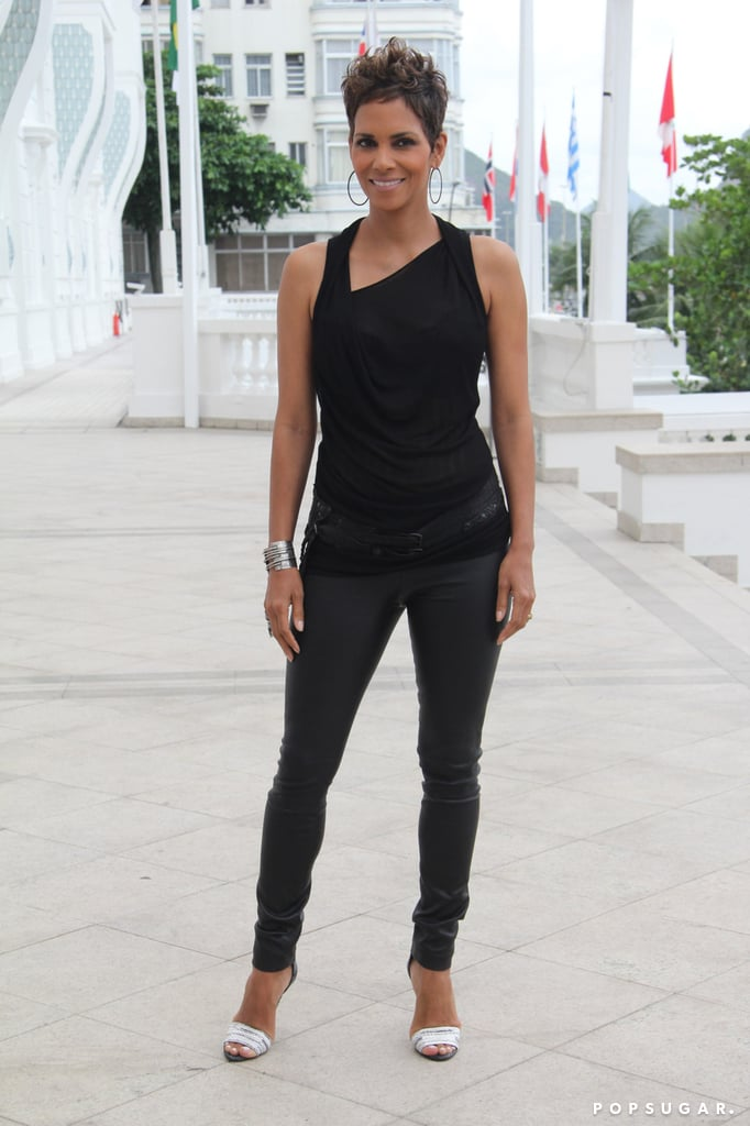 Halle Berry attended a photocall for The Call.