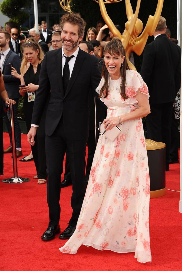 Amanda peet and her husband david benioff celebrated their baby